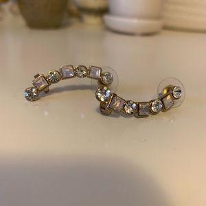 Jewelry - EUC Rhinestone crawler earrings with cuff